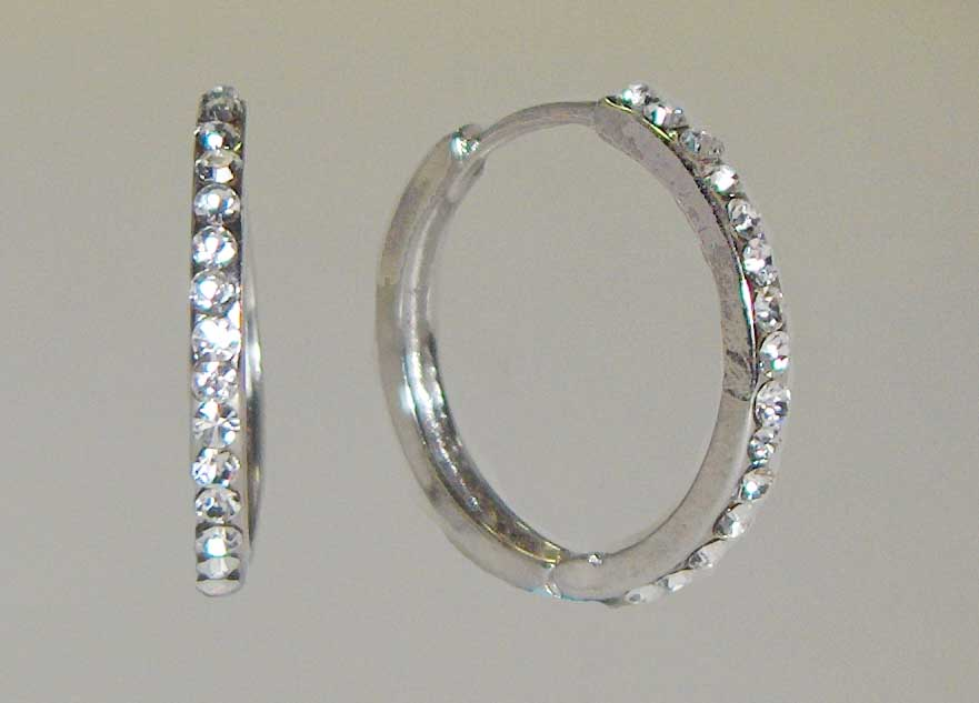 Single row crystal medium hoops