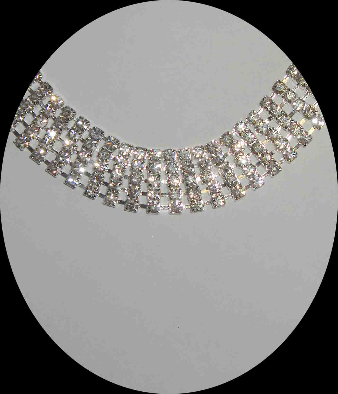 5 row rhinestone necklace